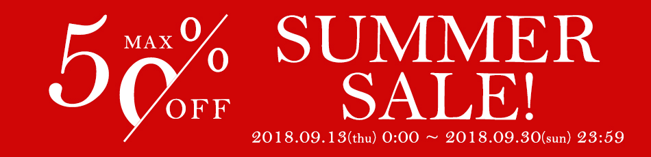 18 SUMMER SALE 50%OFF