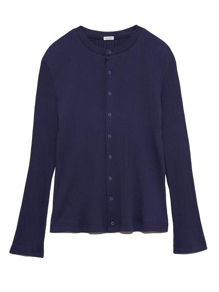 暗釦羅紋薄針織外套