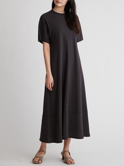 圓領素色休閒連身裙