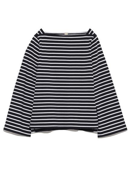 簡約條紋船型領上衣