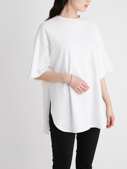 圓弧下襬開衩T-Shirt