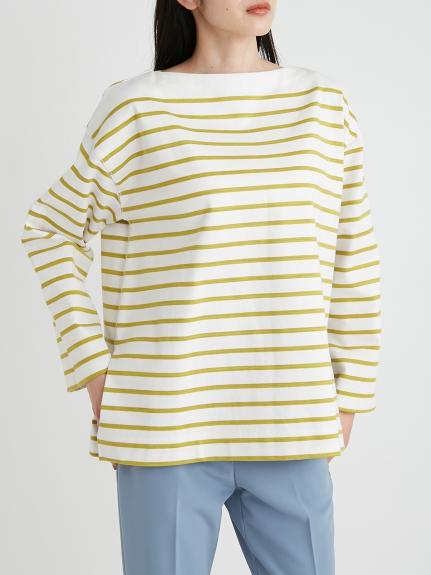 船型領條紋寬版上衣