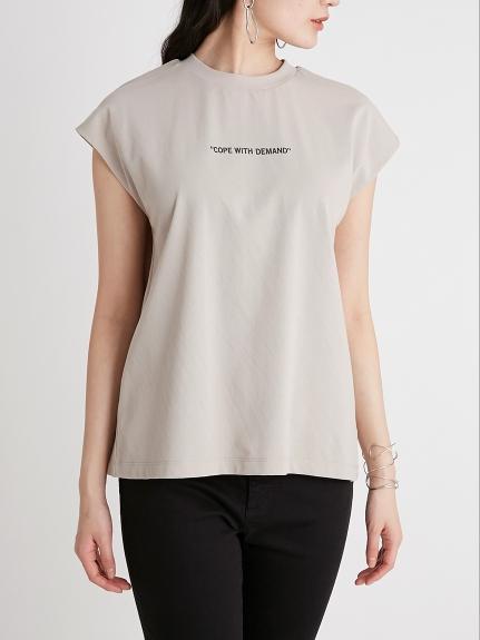 文字印刷微袖T-Shirt