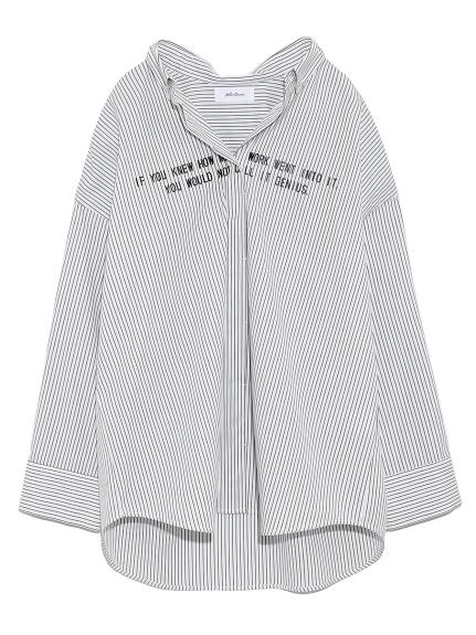 寬版直條紋襯衫