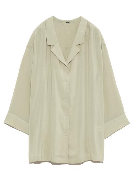 復古樣式開襟襯衫