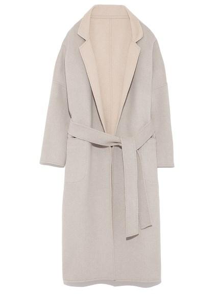 開襟兩穿式綁帶大衣