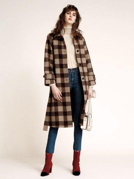 羊毛綁帶大衣