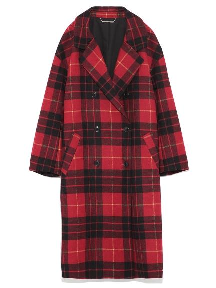 雙排釦翻領長版大衣