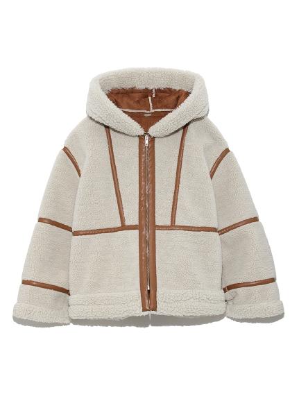 羊羔絨滾邊夾克