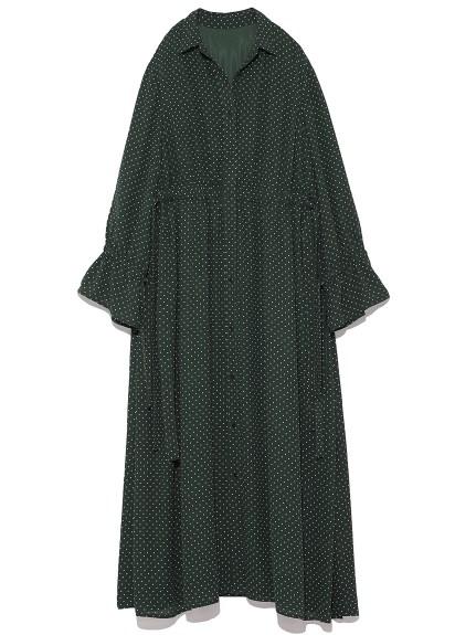 氣質點點襯衫剪裁洋裝