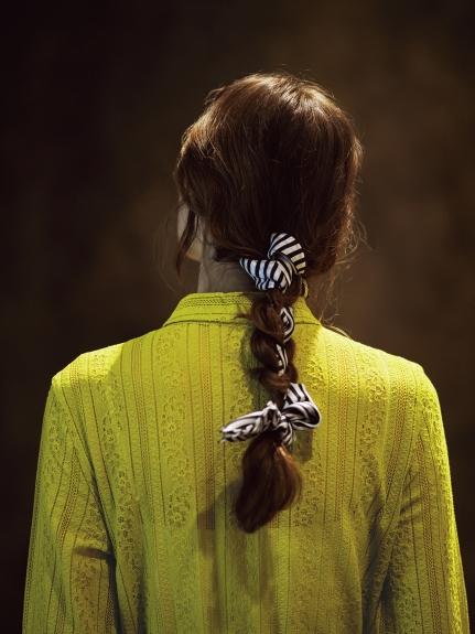 蕾絲剪裁襯衫連身裙
