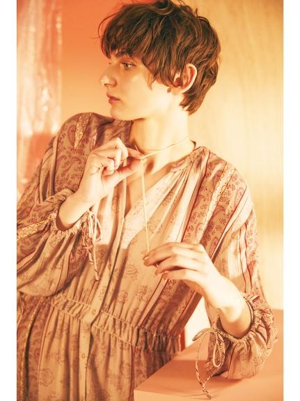 造型蓬袖長版罩衫