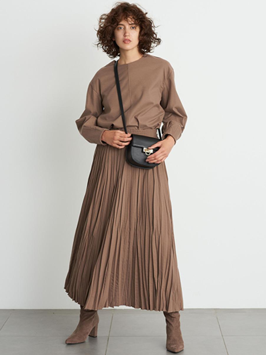 皺褶裙兩件式組合套裝
