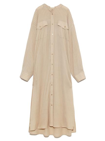 柔軟長版襯衫式連身裙