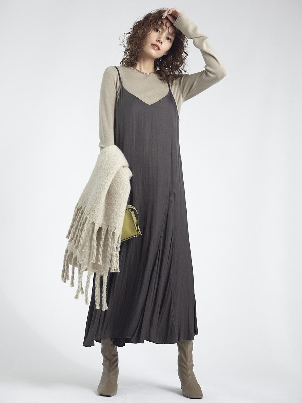 針織細肩帶連身裙組合