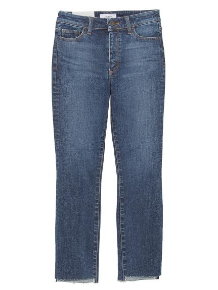 不規則窄管剪裁牛仔褲