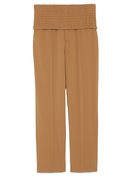 高腰造型修身長褲