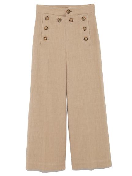 時尚鈕扣造型寬褲