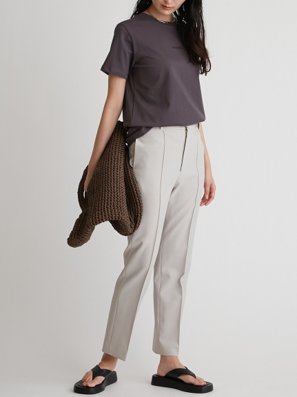 小口袋裝飾壓線西裝褲