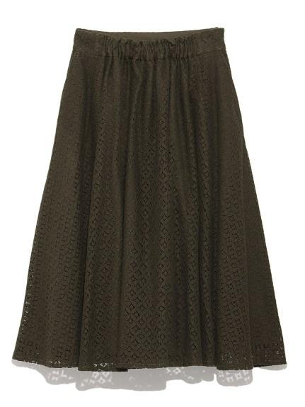 簍空蕾絲荷葉長裙