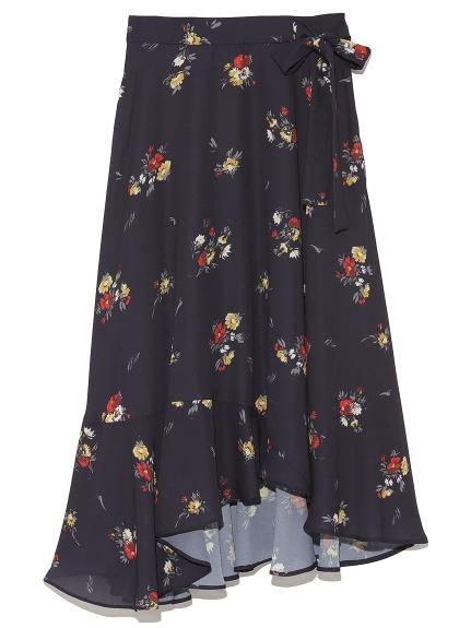 不規則花卉剪裁長裙