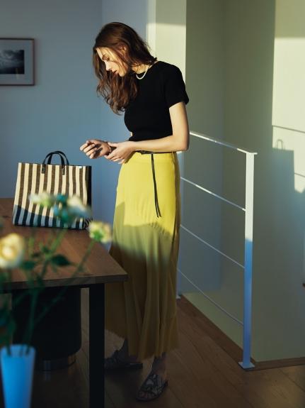 毛邊剪裁造型長裙