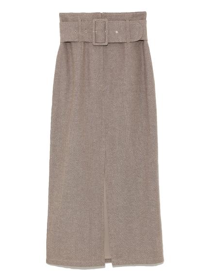寬版腰帶長裙