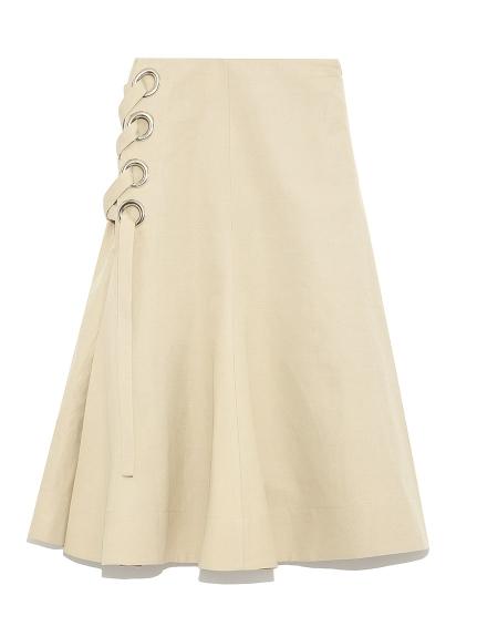 側邊繫帶中長裙