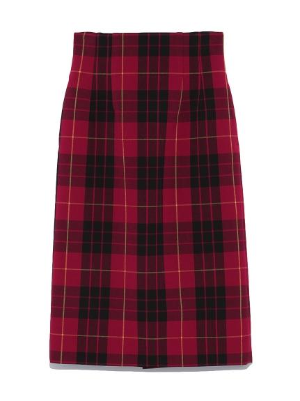 高腰緊身中長裙