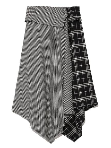 不規則傘襬中長裙