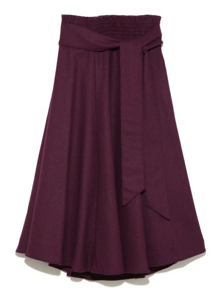 垂墜腰帶傘狀長裙