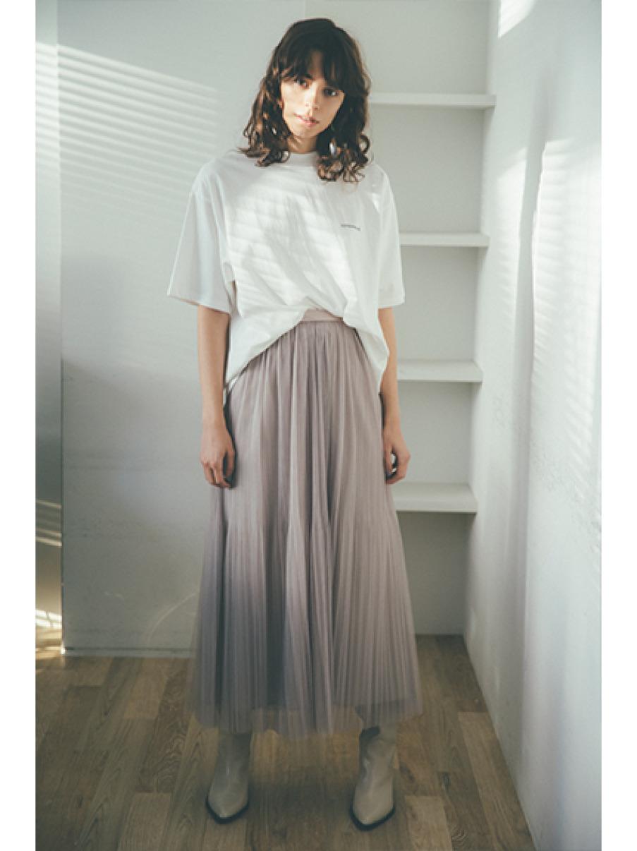 薄紗百褶裙