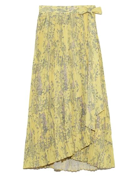 細褶拼接層次中長裙