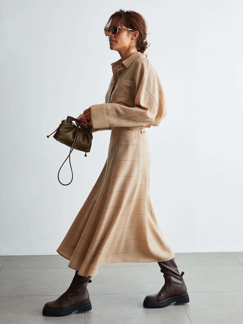 套裝窄版圓裙