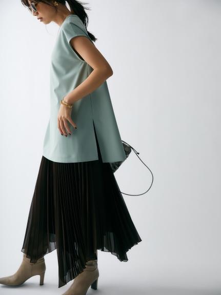 不規則裙襬百褶裙