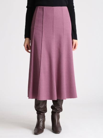 混羊毛中長裙
