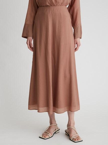水洗棉透膚長裙
