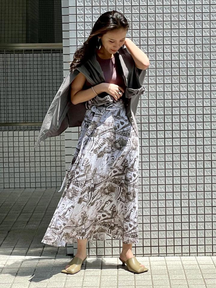一片裙風亞麻長裙
