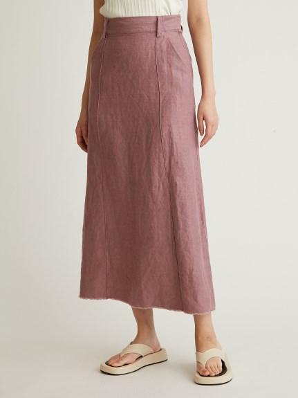 中壓線亞麻長裙