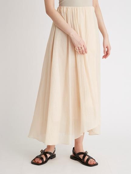 一片裙風透膚傘襬長裙