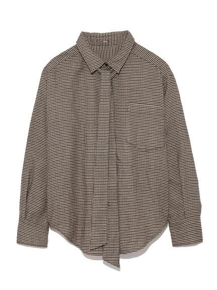 寬鬆剪裁領結襯衫