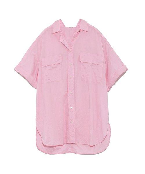 純棉寬鬆短袖襯衫