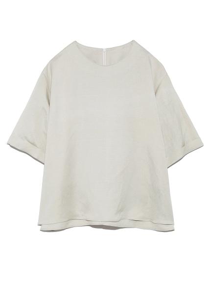 亞麻短袖寬鬆上衣