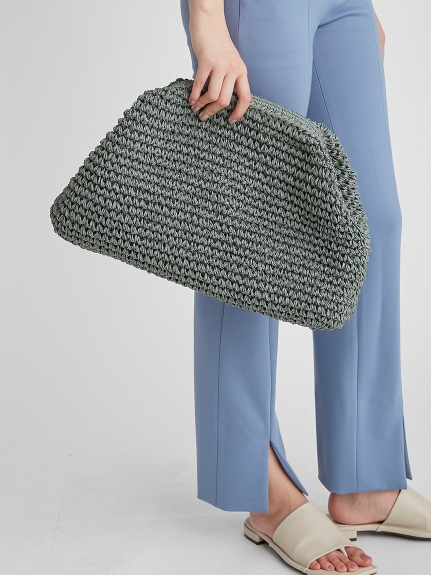 編織方口手拿包