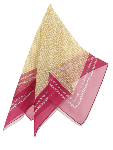 造型鏈條圖騰絲巾