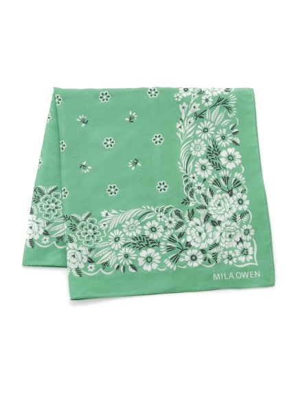 花朵圖騰絲巾