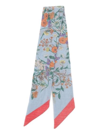 素雅花卉領巾