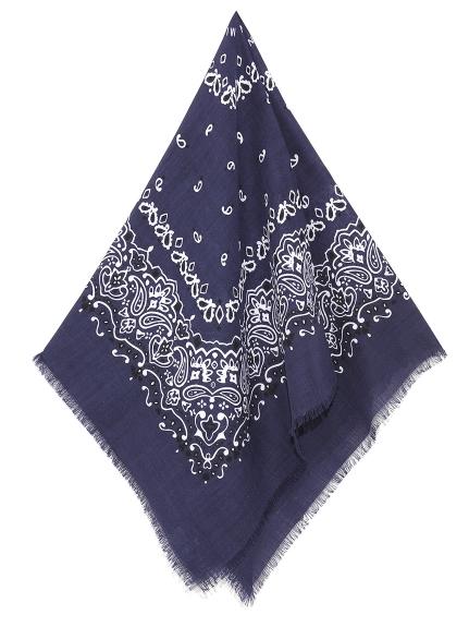變形蟲圖騰毛邊領巾