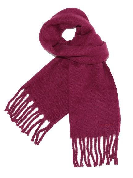 純色流蘇造型圍巾
