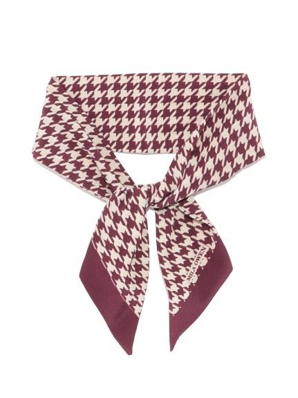 千鳥格造型領巾